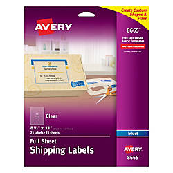 Print avery easy peel clear full sheet