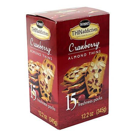 THINaddictives Cranberry Almond Thins, 15 Count