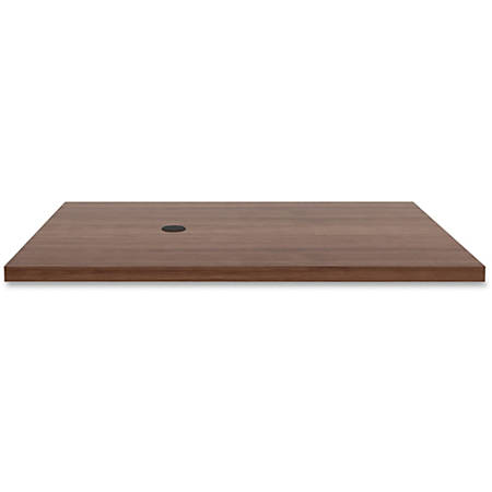 """Lorell® Prominence Conference Rectangle Table Top, 48""""W x 60""""L, Walnut"""