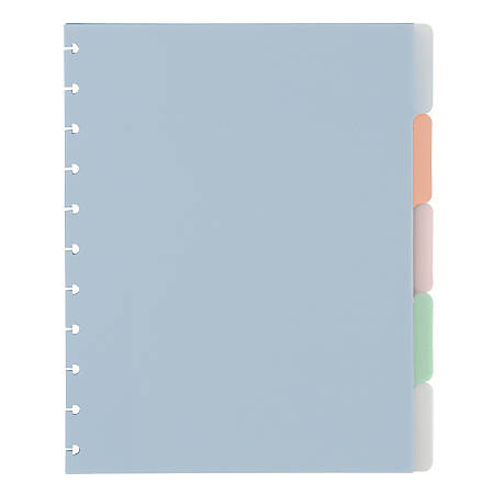 TUL® Discbound Notebook Tab Dividers, Limited Edition, Sunset Shades, Letter Size, Assorted Light Colors, Pack of 5 Dividers