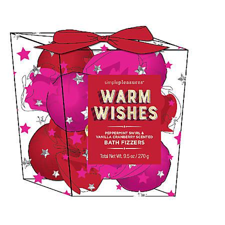 Tri Coastal Design 9-Piece Bath Fizzers Gift Set, Red