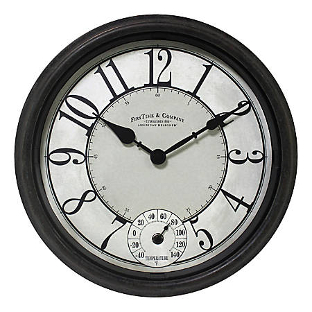 FirsTime & Co. Isle Patina Outdoor Wall Clock