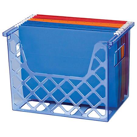 "Officemate® Blue Glacier Desktop File Organizer, 10 3/4"" x 12 1/2"" x 8 5/8"", Blue"