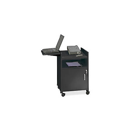 """Safco® Economy Mobile Computer/Projector Stand, 30""""H, Black"""