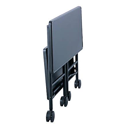 "Safco® Folding Office Cart, 30""H x 26""W x 15""D, Black"