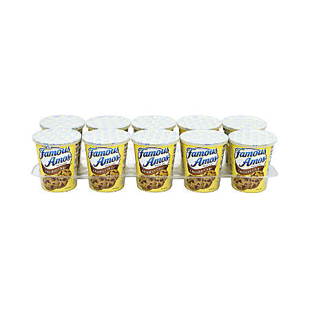 Famous Amos On-The-Go Chocolate Chip Cookie Cups, 2.7 Oz, Pack Of 10 Cups