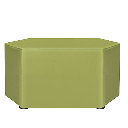 "Marco Hexagon Seating Ottoman, 18""H, Leap Frog"