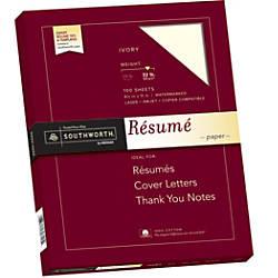 Southworth 100percent Cotton R sum Paper