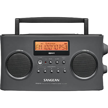 Sangean FM-Stereo RDS (RBDS) / AM Digital Tuning Portable Receiver - 5 x AM, 5 x FM PresetsLCD Display - Headphone - 6 x C - Nickel Metal Hydride (NiMH)