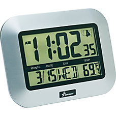SKILCRAFT LCD Digital Display Clock Silver