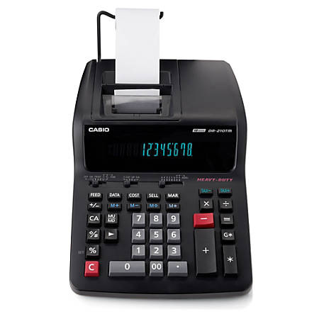 Casio Dr 210tm Printing Calculator By Office Depot Amp Officemax