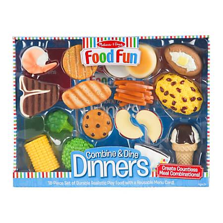 Melissa & Doug Food Fun Combine And Dine Dinners, Delicious Desserts, Pre-K - Grade 1
