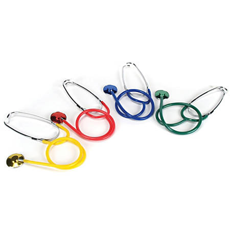 """American Educational Products Stethoscopes, 4""""H x 4 3/4""""W x 7 3/4""""D, Assorted Colors, Pack Of 4"""