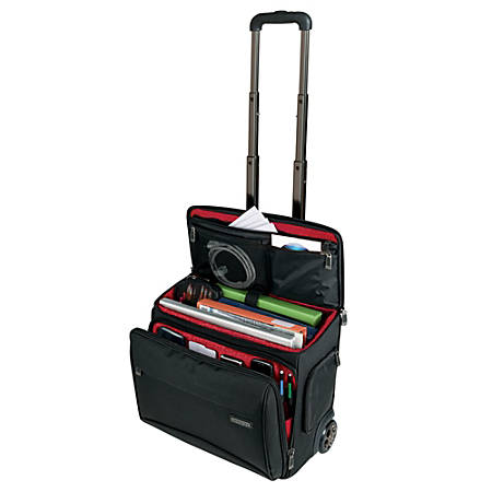 "Ativa™ Mobil-IT Rolling Briefcase Ultimate Carry-On Workmate, 11.5""H x 17.5""W x 16.5""D, Black"