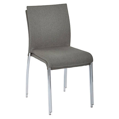 Ave Six Conway Stacking Chairs, Smoke/Silver, Set Of 2