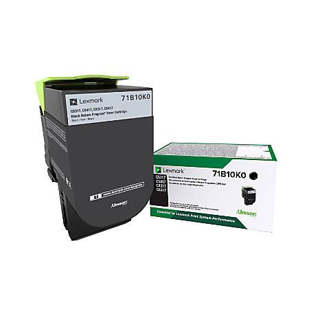 Lexmark™ 71B10K0 Return Program Black Toner Cartridge
