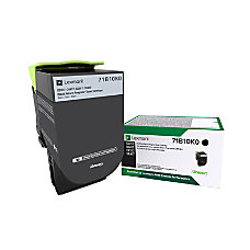 Lexmark 71B10K0 Return Program Black Toner