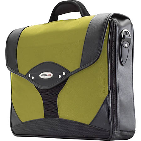 Mobile Edge Select Briefcase - Top-loading - Shoulder Strap, Handle - Leather - Yellow, Black