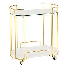 LumiSource Canary Contemporary 2 Shelf Cart