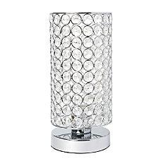 Elegant Designs Elipse Crystal Bedside Uplight