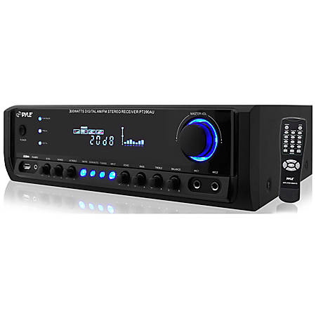 PyleHome PT390AU AM/FM Receiver - 300 W RMS - 4 Channel - AM, FM - USB - iPod Supported