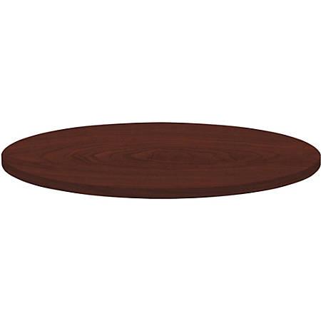 """Lorell® Hospitality Round Table Top, 36""""W, Mahogany"""