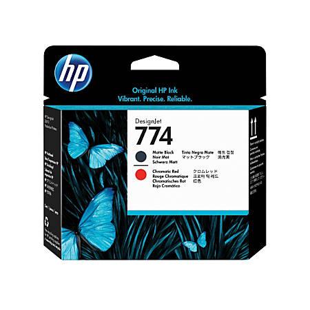 HP Designjet 774 Matte Black/Chromatic Red Printhead (P2V97A)