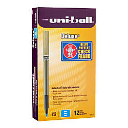 uni ball Deluxe Rollerball Pens Micro