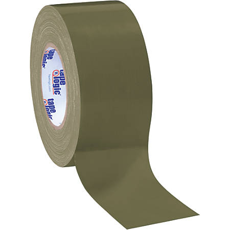 "Tape Logic® Color Duct Tape, 3"" Core, 3"" x 180', Olive Green, Case Of 3"