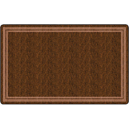 "Flagship Carpets Double-Border Rectangular Rug, 90"" x 144"", Chocolate"