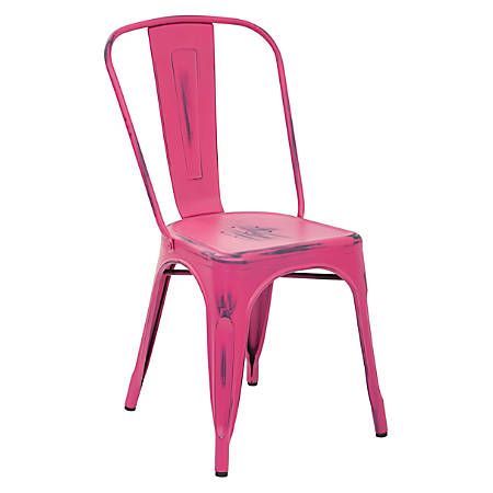Office Star™ Bristow Armless Chairs, Antique Pink, Set Of 2 Chairs