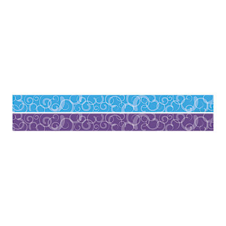 "Barker Creek Double-Sided Straight-Edge Border Strips, 3"" x 35"", North Shore, Pack Of 12"