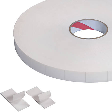 """Tape Logic® Double-Sided Foam Strips, 3"""" Core, 1"""" x 3"""", White, Roll Of 216"""