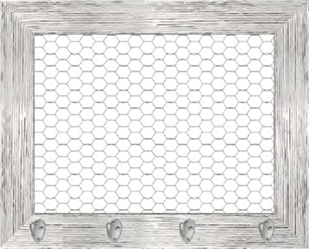 PTM Images Expressions Framed Wall Art Chicken Wire 24 H x 30 W ...