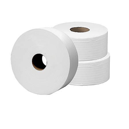 "Highmark® 2-Ply Jumbo Tissue Rolls, 9"" Diameter, Bright White, 1,000' Per Roll, Case Of 12 Rolls"