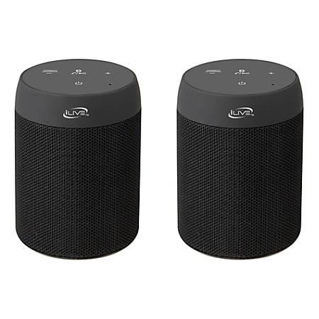 iLive Portable Dual ISB2139B Wireless Speakers, Black