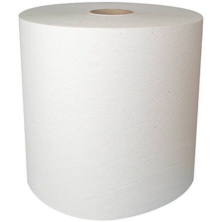 """Highmark® 1-Ply Hardwound Paper Towels, 8"""" x 800', White, Case Of 6 Rolls"""