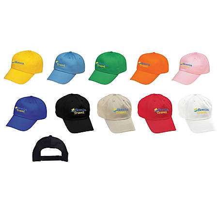 Cotton Twill Embroidered Cap, One Size