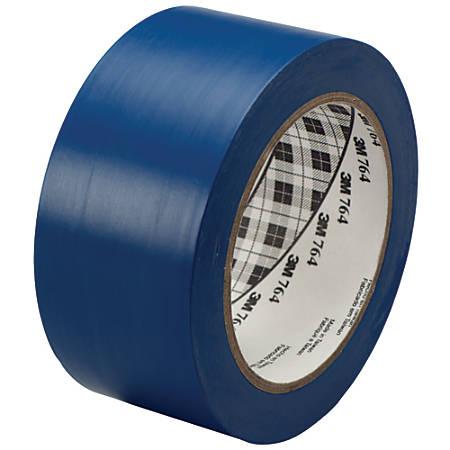 "3M™ 764 Vinyl Tape, 3"" Core, 2"" x 36 Yd., Blue, Case Of 6"