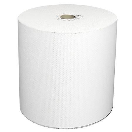 "LoCor 1-Ply Hard Roll Paper Towels, Mid-Prem, 7"", White, 800' Per Roll, Carton Of 6 Rolls"