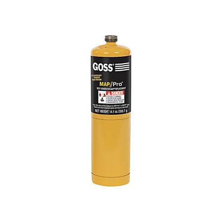 Goss® Disposable Cylinders, 16 Oz, MAPP, Pack Of 12