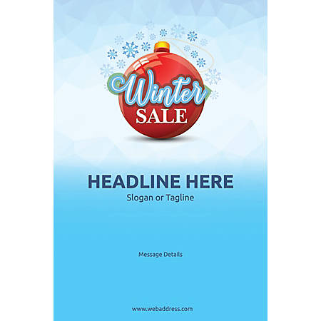 Adhesive Sign, Winter Sale, Vertical
