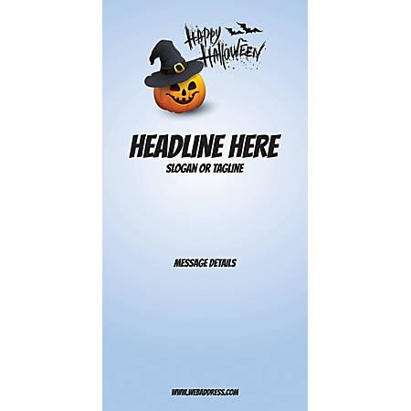 Custom Vertical Display Banner, Blue Halloween