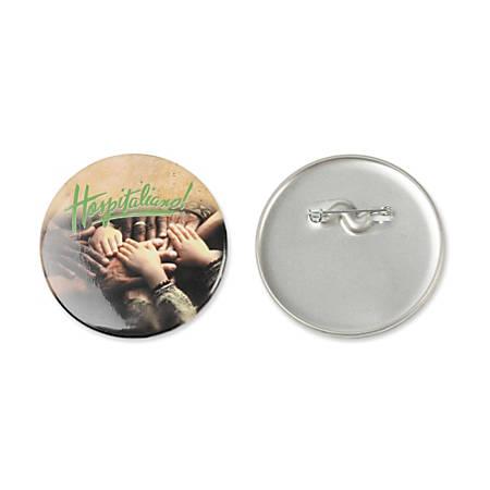 "Medium-Size Round Button, 2 1/4"", White"