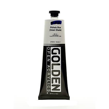 Golden OPEN Acrylic Paint, 5 Oz Tube, Phthalo Blue (Green Shade)