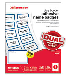 Office Depot Brand Name Badge Labels