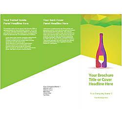 Customizable Trifold Brochure Wine Bottle Glass