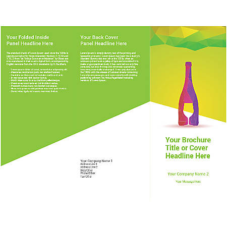 Customizable Trifold Brochure, Wine Bottle Glass