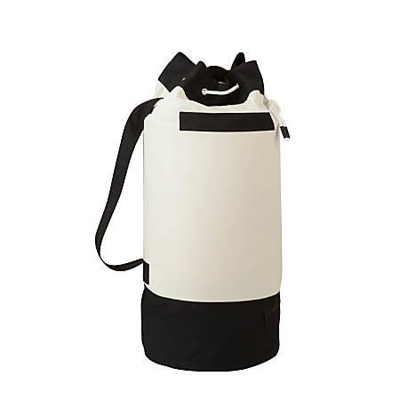 Honey-Can-Do Heavy-Duty Laundry Duffel, Black/White