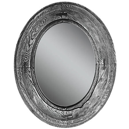 "PTM Images Framed Mirror, Villa I, 22 1/8""H x 18 1/8""W, Stone Gray"